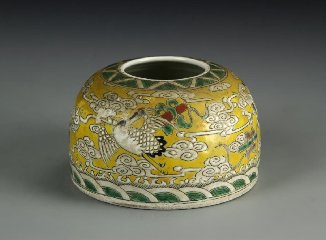 Chinese Famille Rose Brush Pot - 3