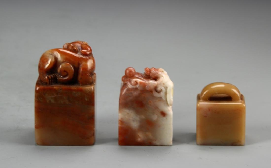 Three Chinese Stone Seal Chops - 2