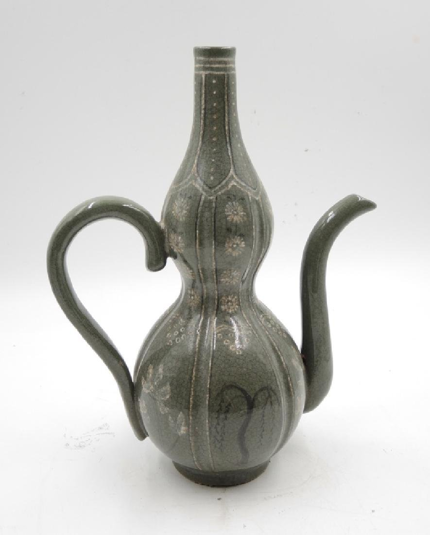 Korean Double Gourd Ewer with Handle - 2