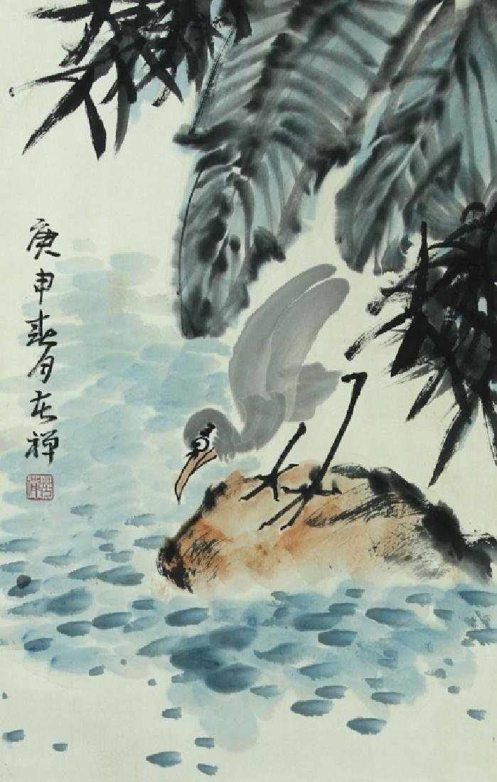 Chinese Bird and Flower Scroll Painting