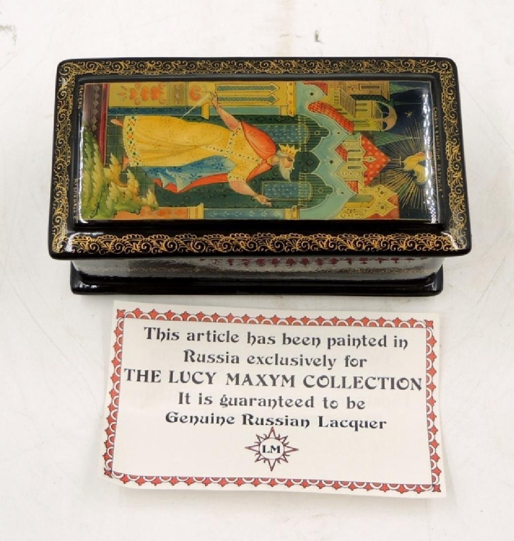 Two Russian Lacquer Boxes - 2