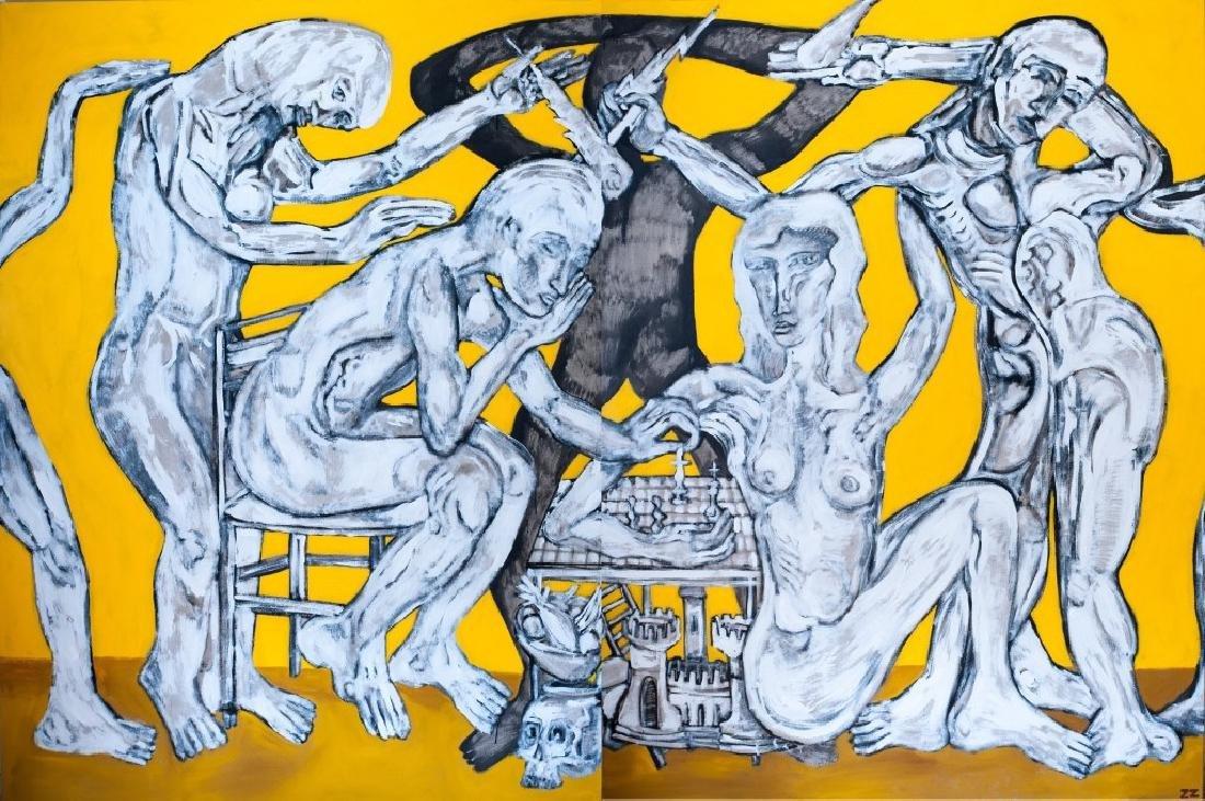 Large-scale Oil on Canvas, Zio Ziegler