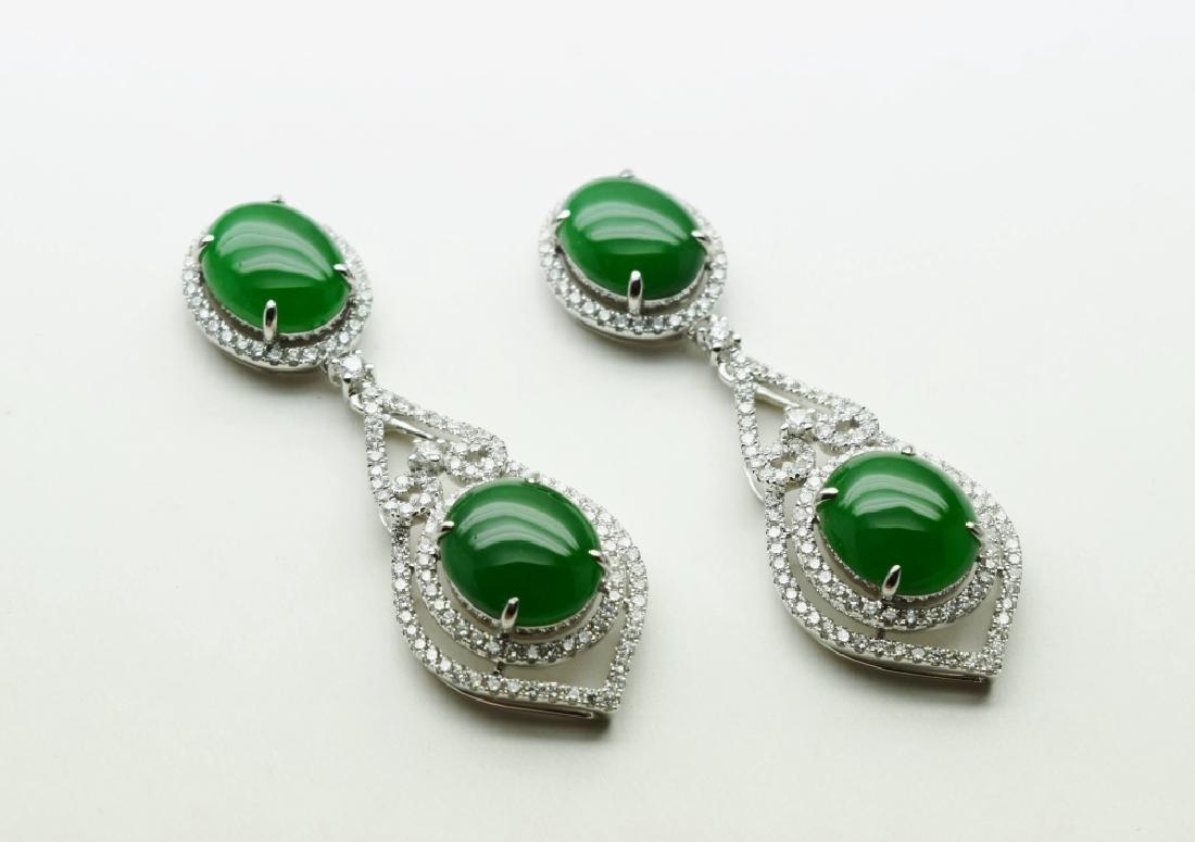 Green Jadeite Earrings
