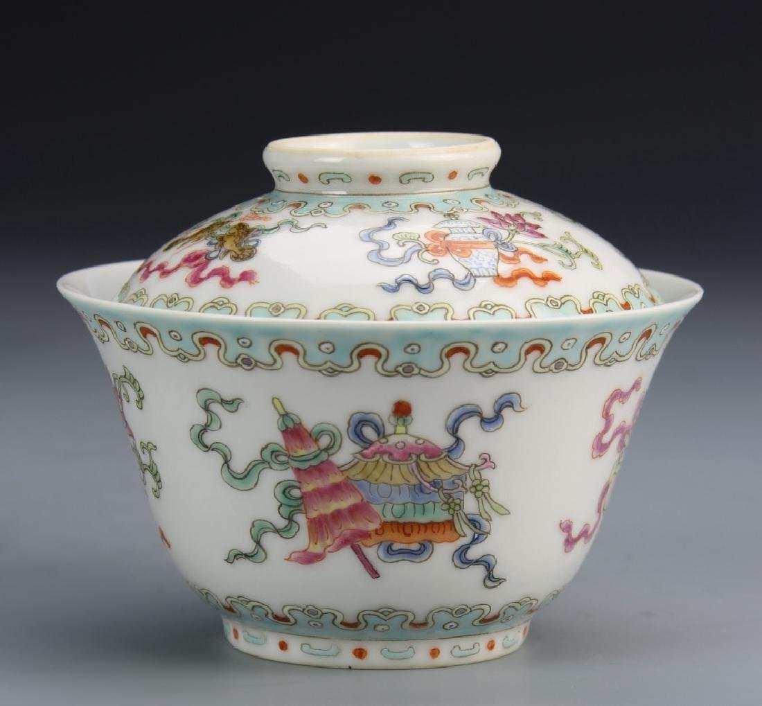 Pair of Chinese Famille Rose Bowls - 3