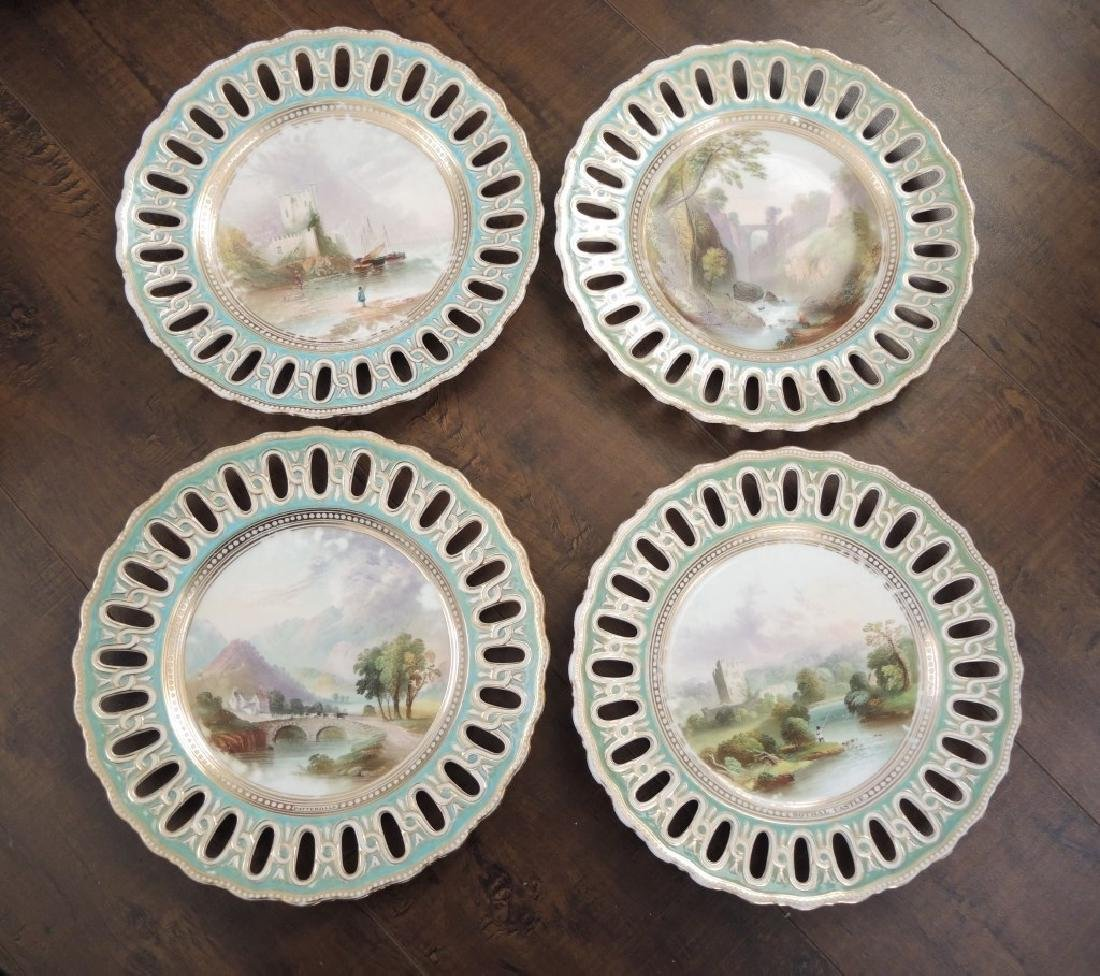 Set of 14 Copeland Hand Painted Dessert Plates - 5