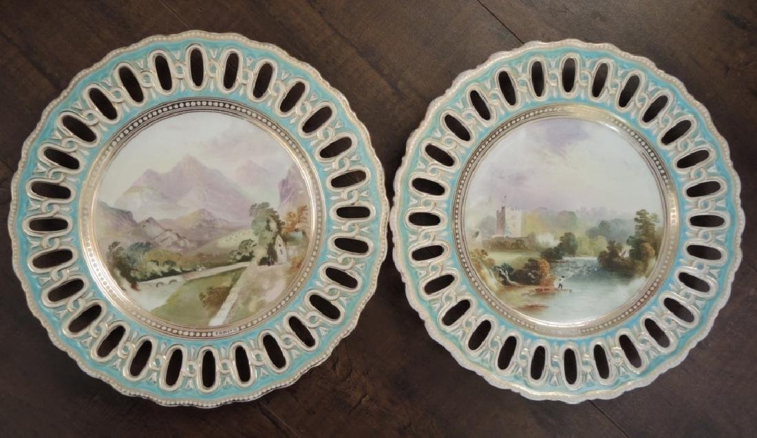 Set of 14 Copeland Hand Painted Dessert Plates - 6