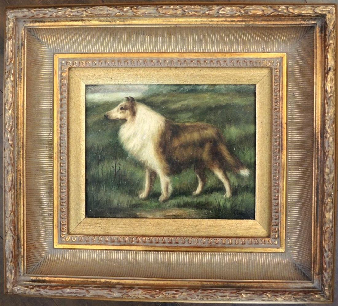 Oil on Canvas of a Dog