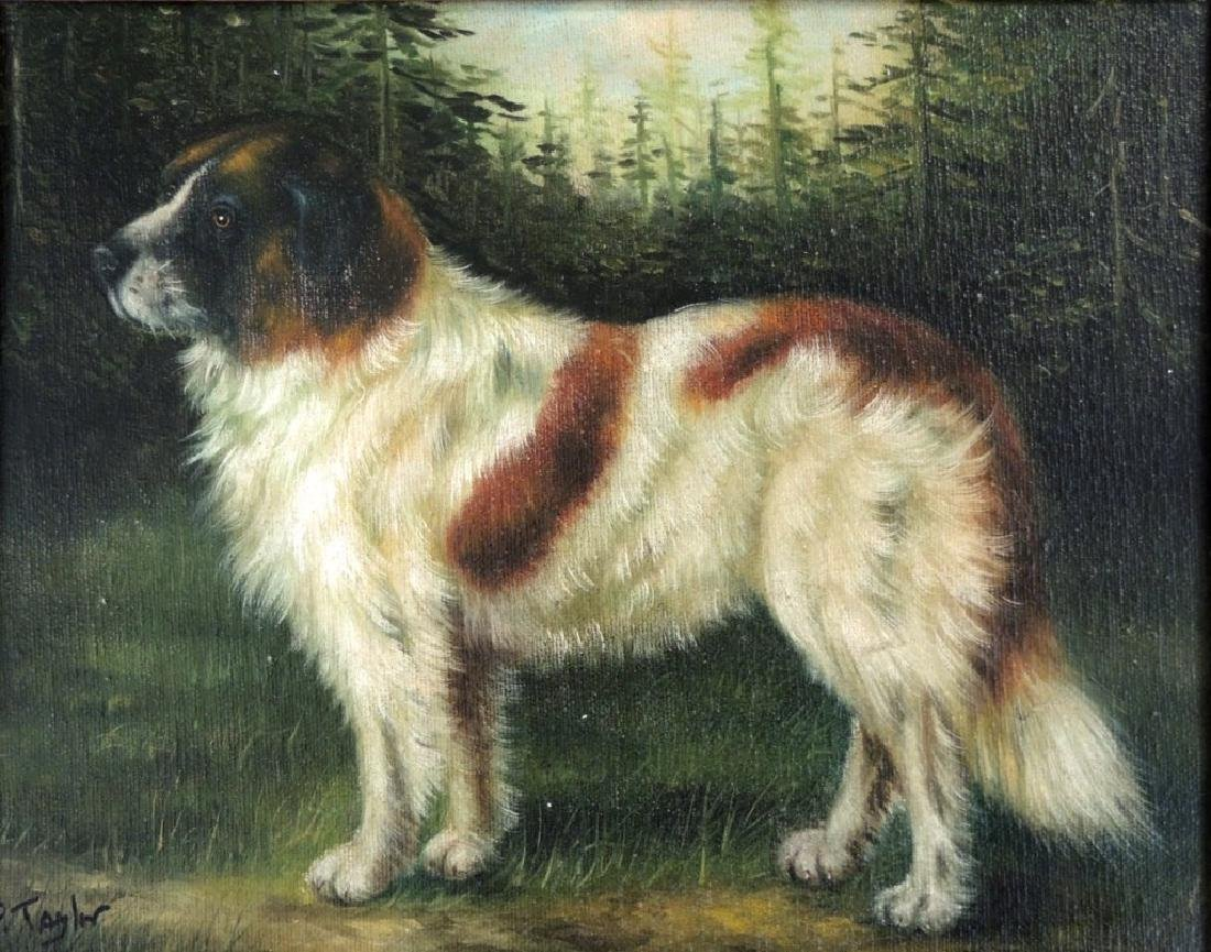 Oil on Canvas of a Dog - 2