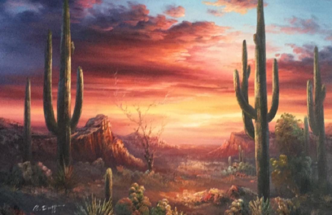 Painting of Southwestern Landscape