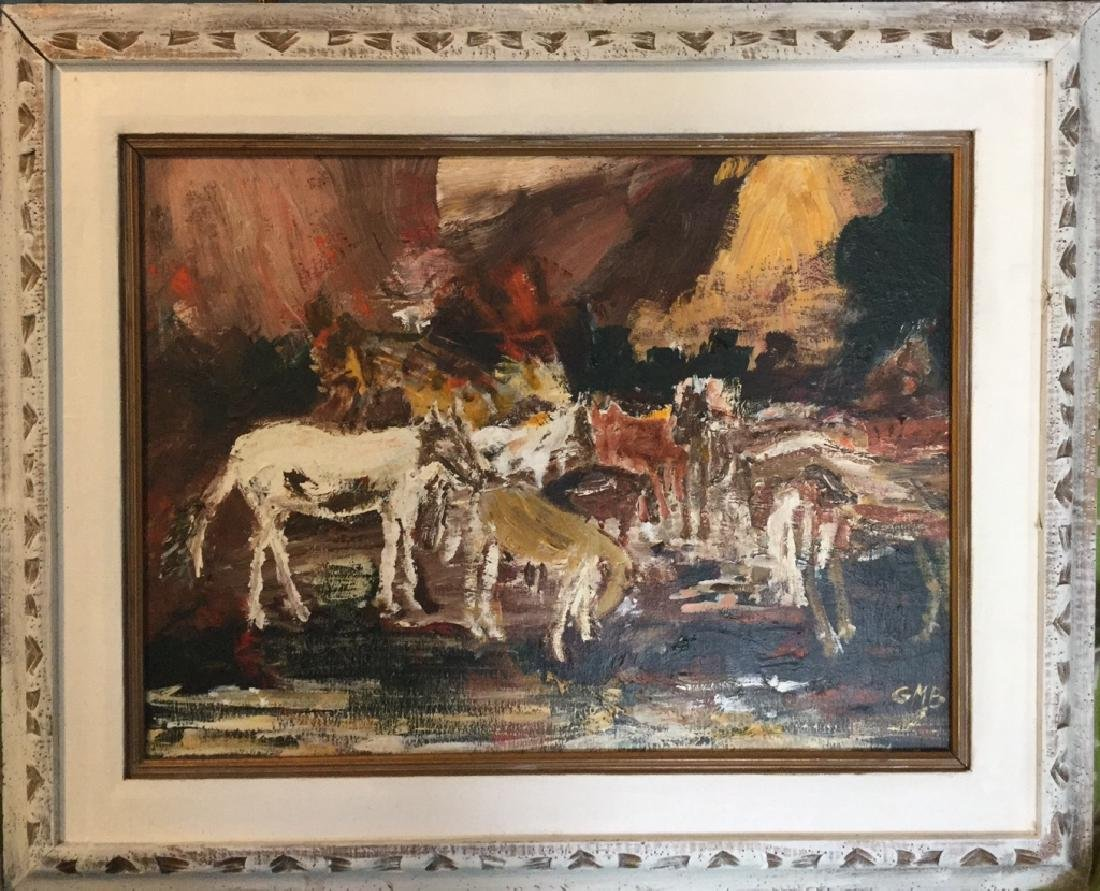 Painting of Horses of Chincoteague