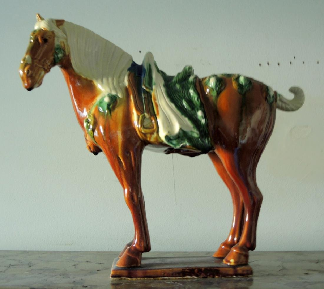 Chinese Sancai Tang Dynasty Style Horse Statue
