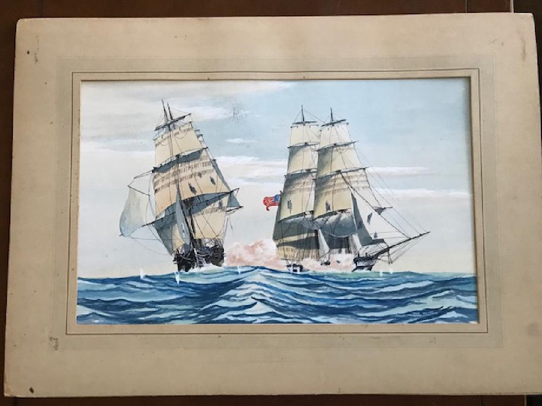 Marine Watercolor, John Whittock