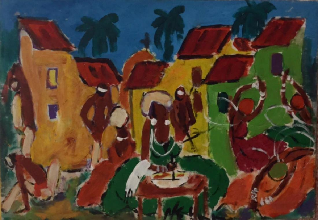 Painting of a Village Scene