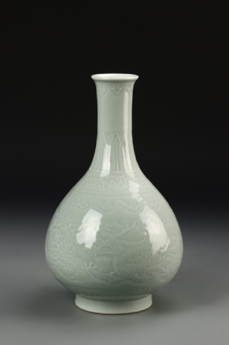 Chinese Celadon Dragon Vase