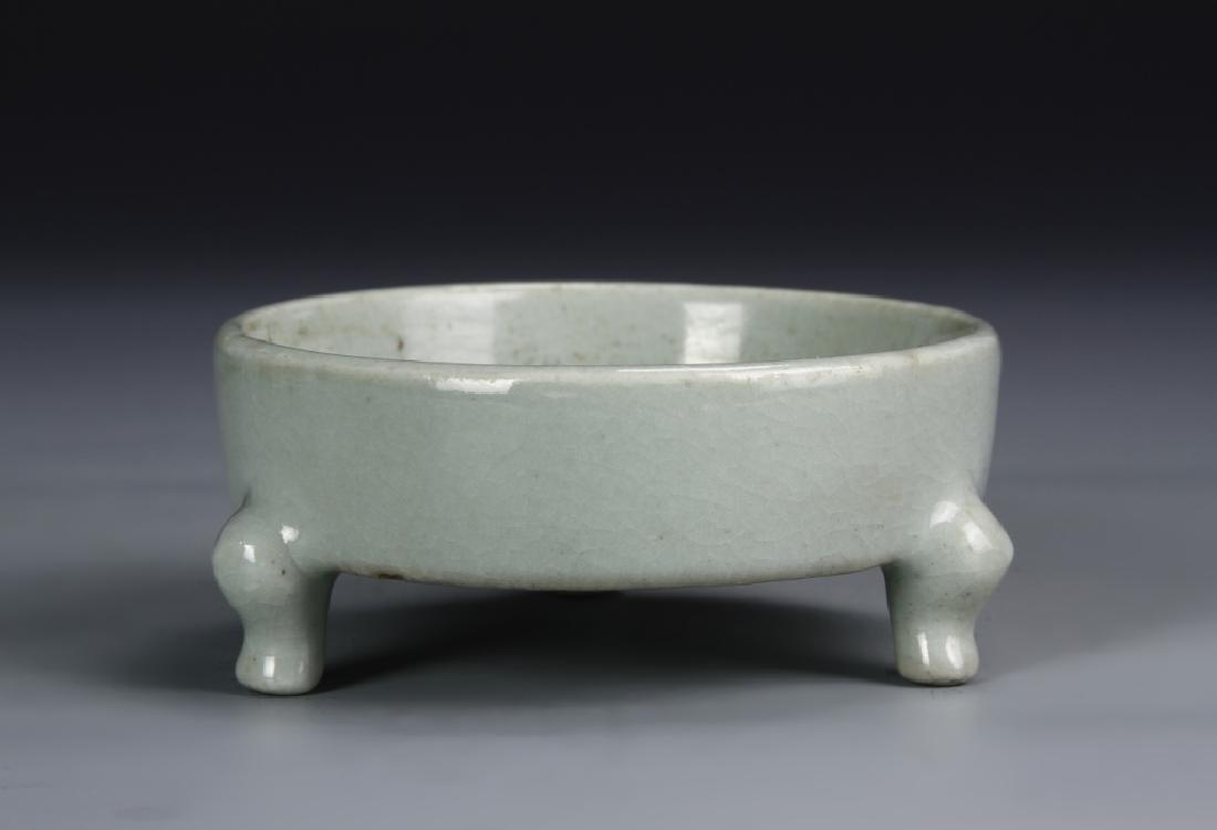 Chinese Celadon Tripod Dish