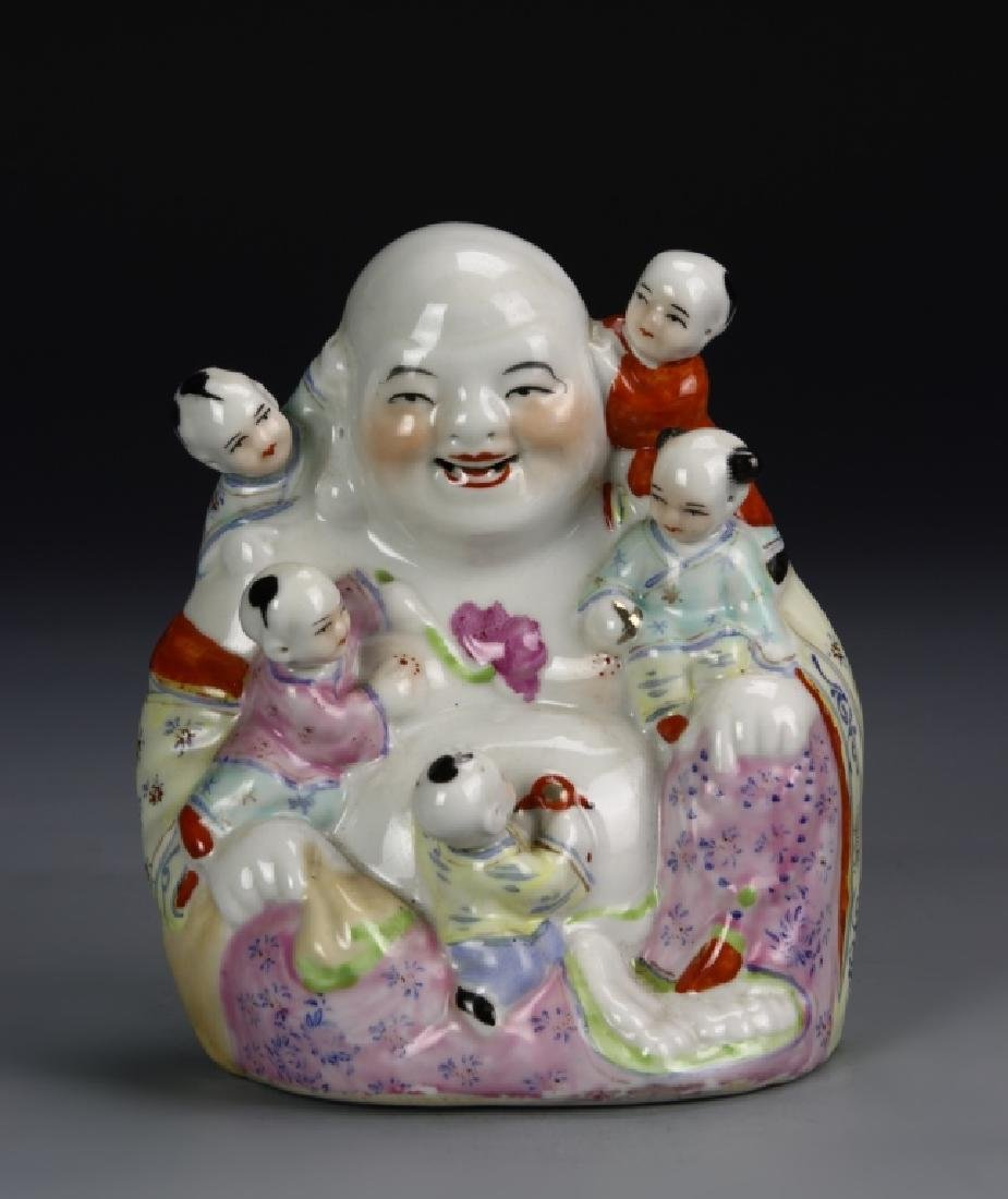 Chinese Porcelain Statue of Happy Buddha