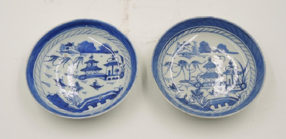 Two Chinese Blue and White Dishes