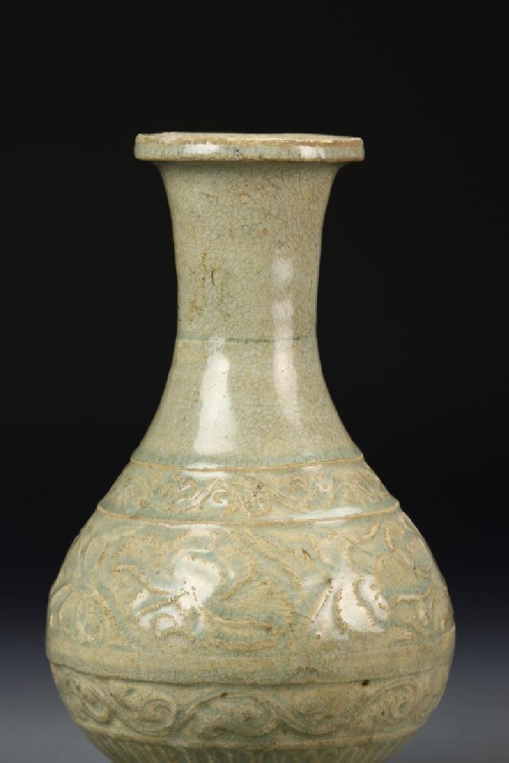 Chinese Longquan Celadon Vase - 3