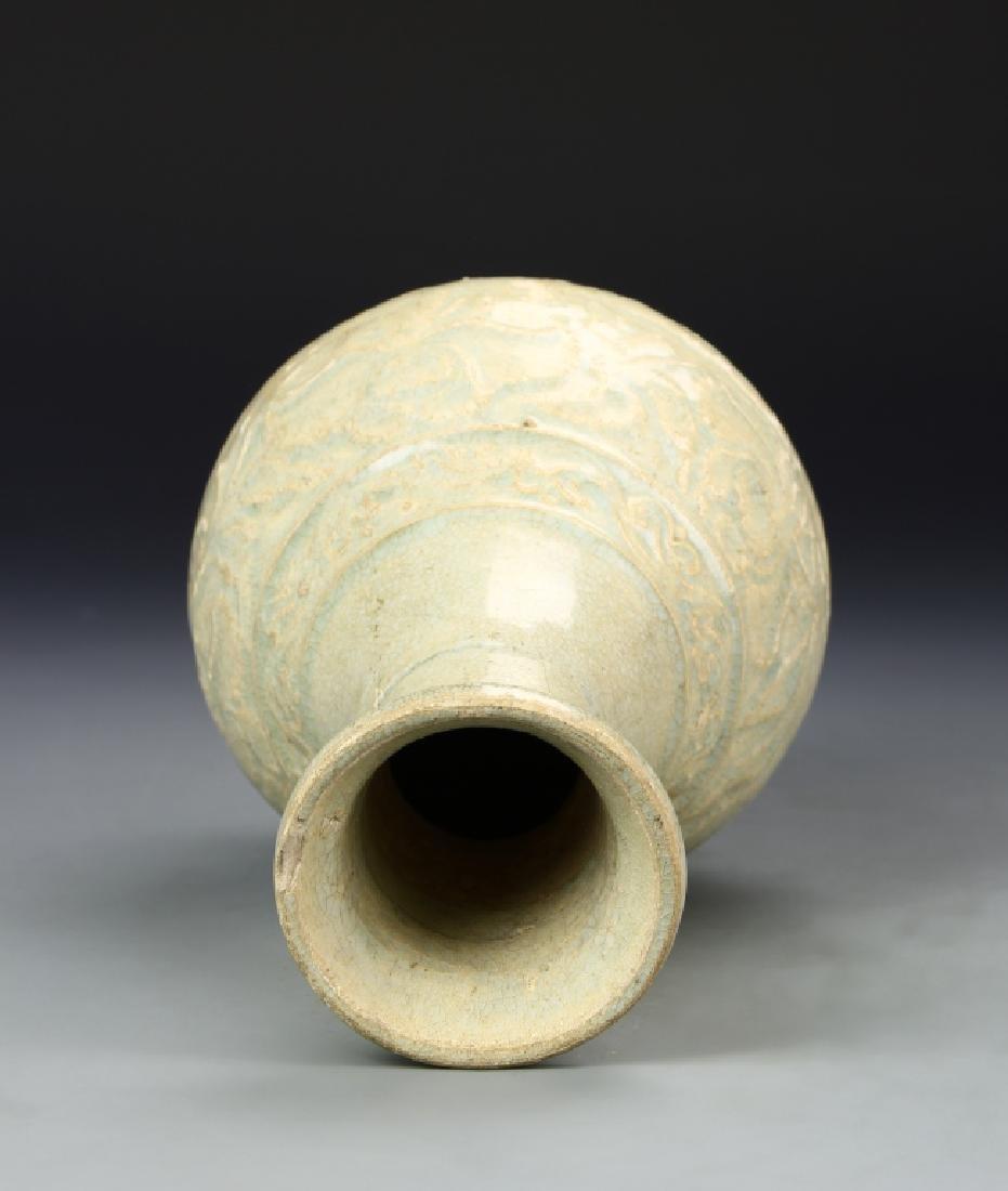 Chinese Longquan Celadon Vase - 5