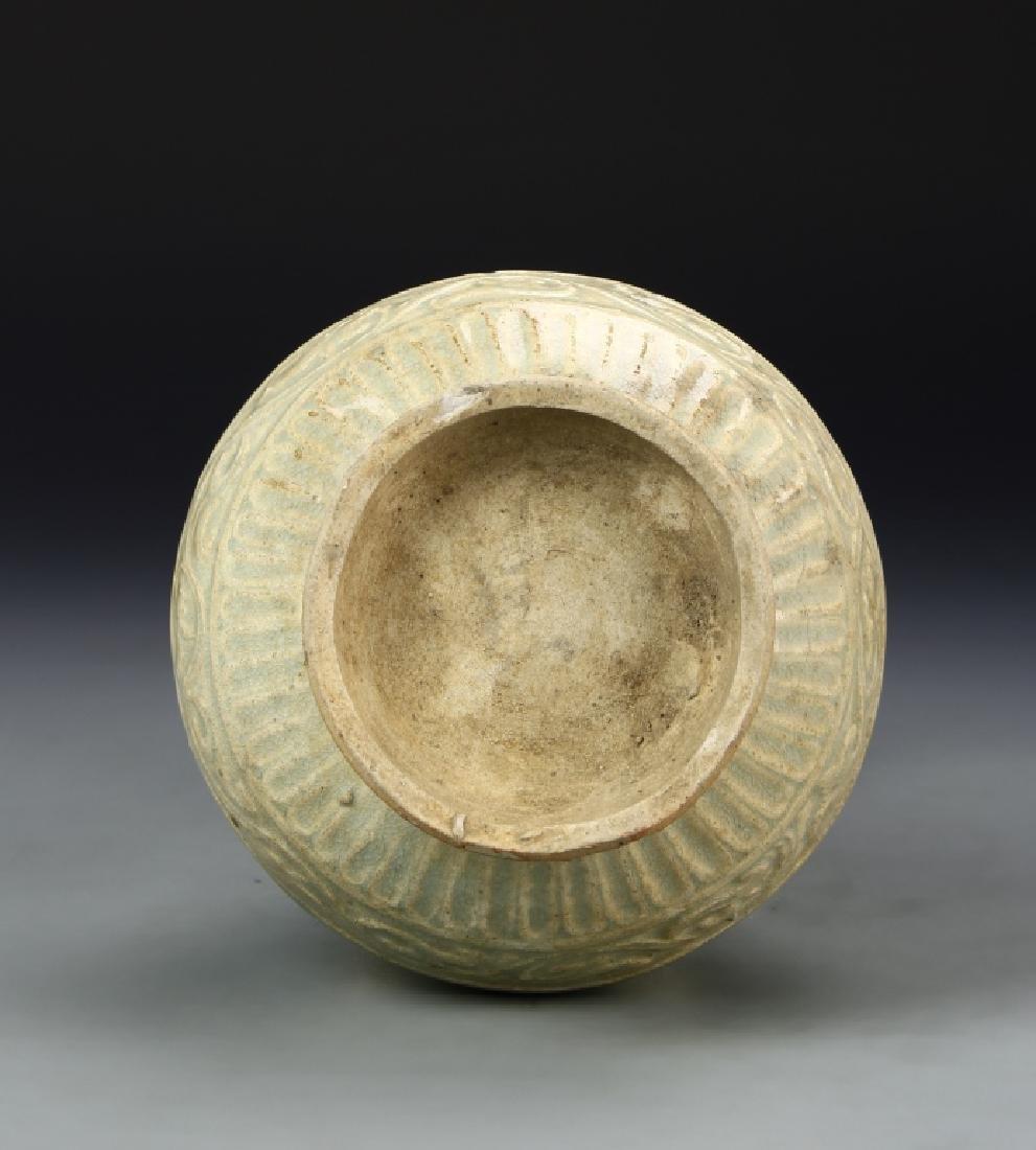 Chinese Longquan Celadon Vase - 6