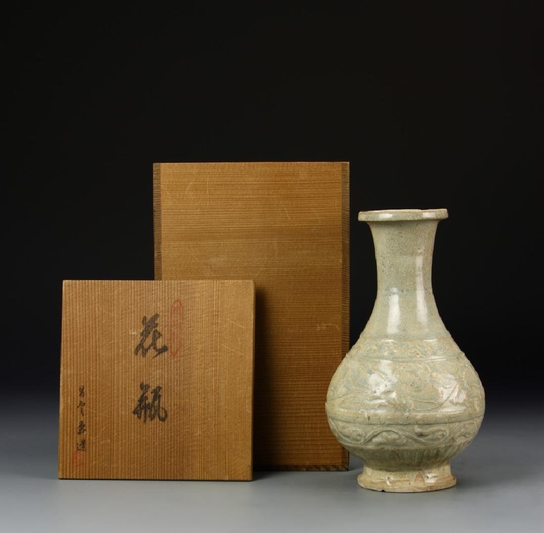 Chinese Longquan Celadon Vase - 7