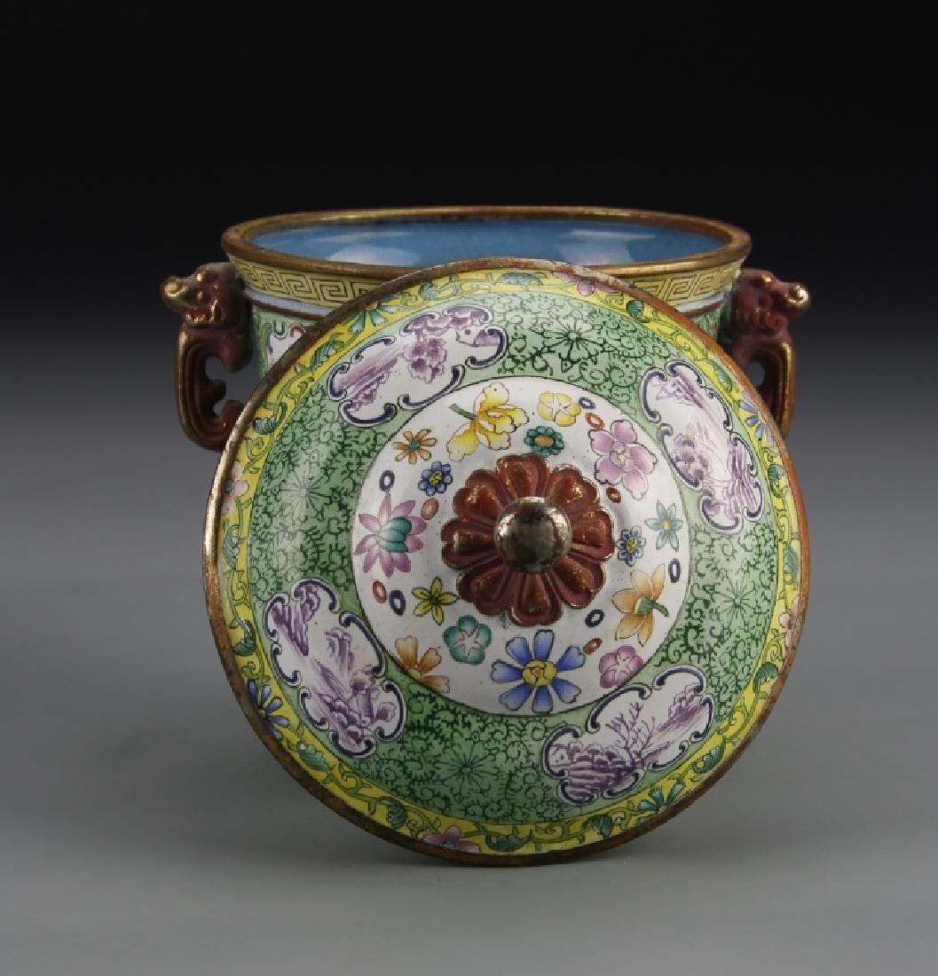 Chinese Enameled Jar - 4