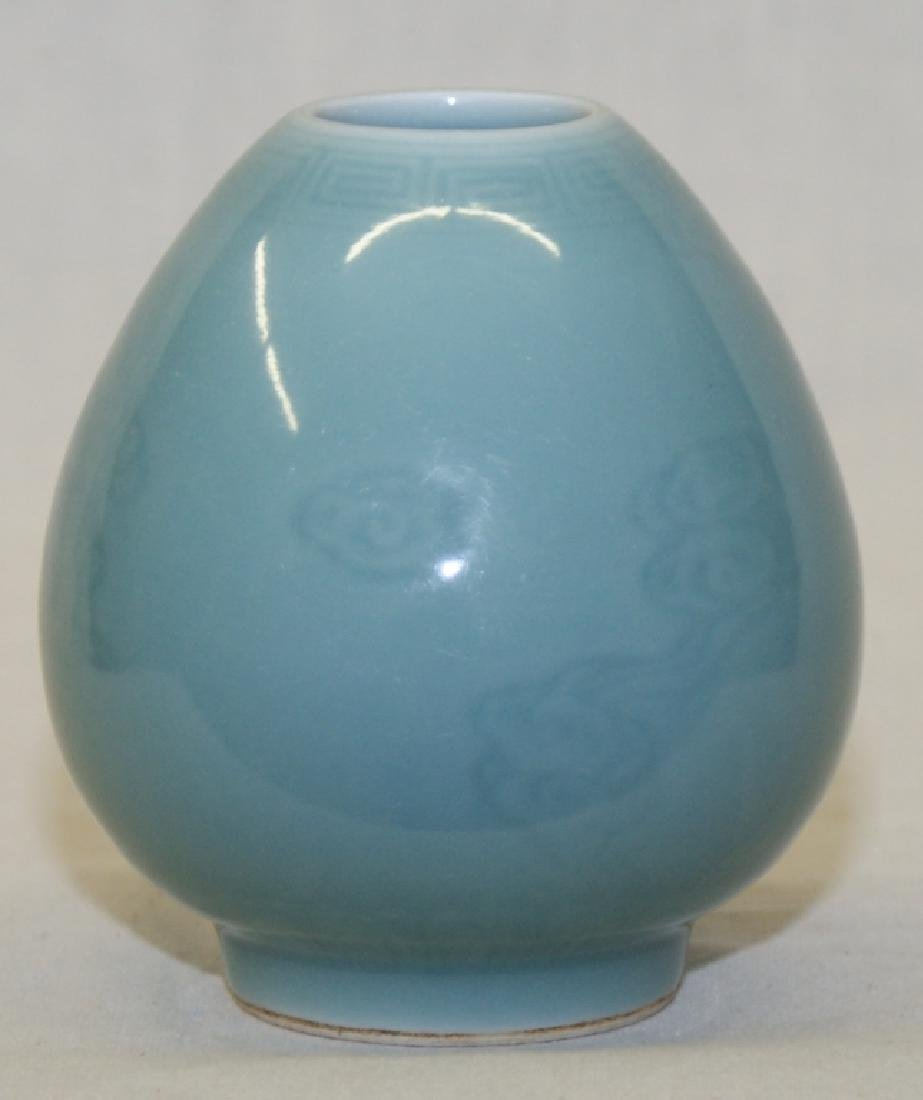 Chinese Light Blue Glaze Brush Washer - 2