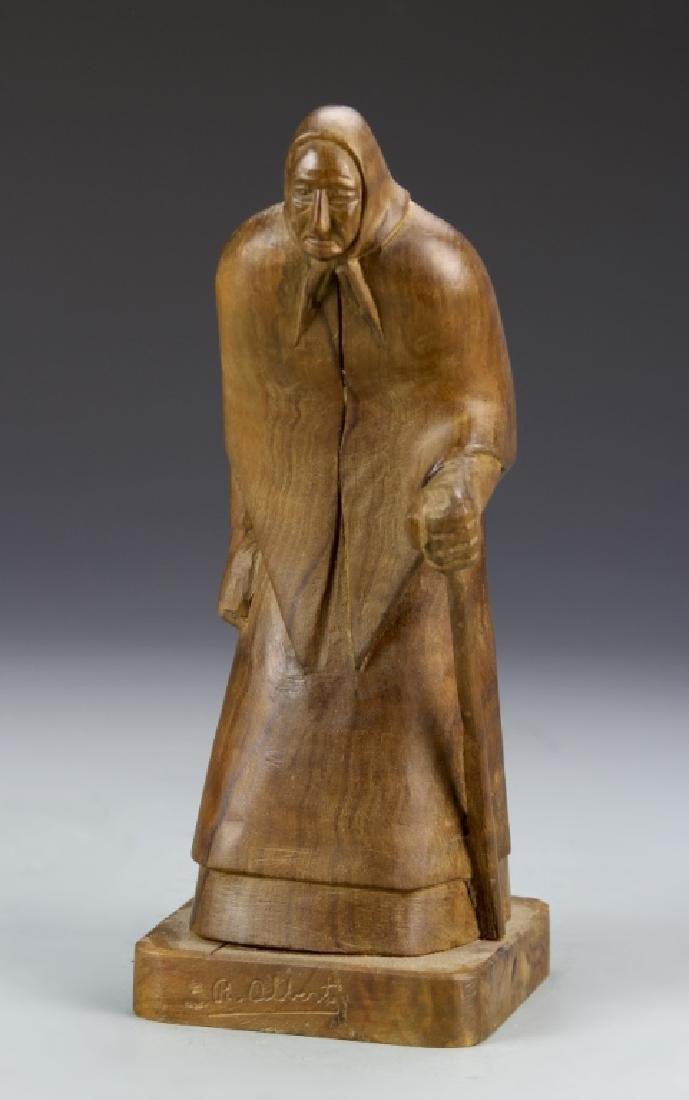 Carved Wood Figure - 2
