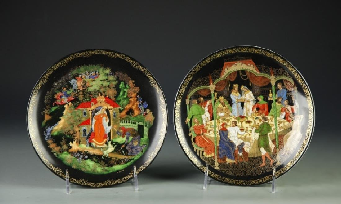 Pair Of Russian Collectable Plates - 4