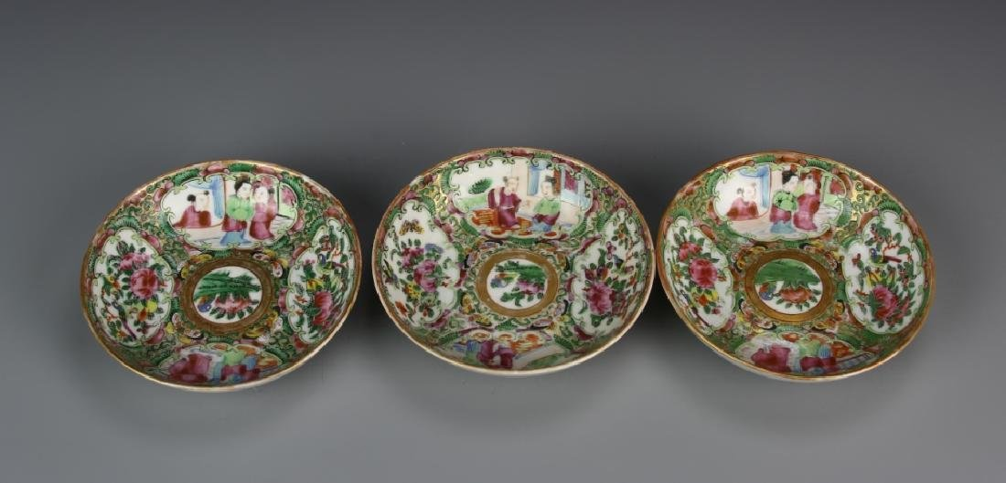 Three Famille Rose Dishes