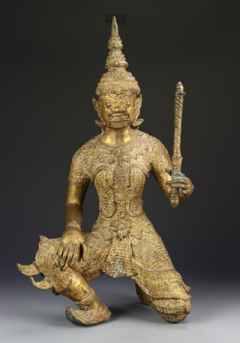 Thailand Gilt Bronze Buddha