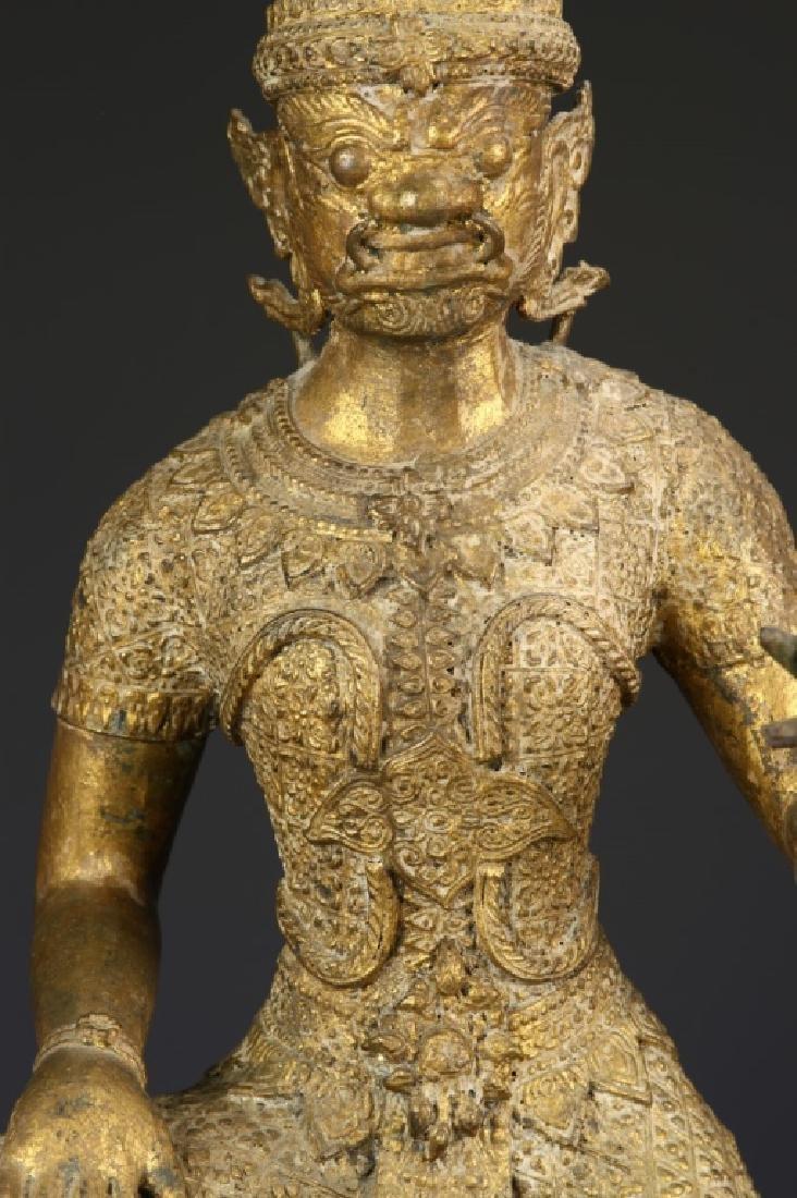 Thailand Gilt Bronze Buddha - 2