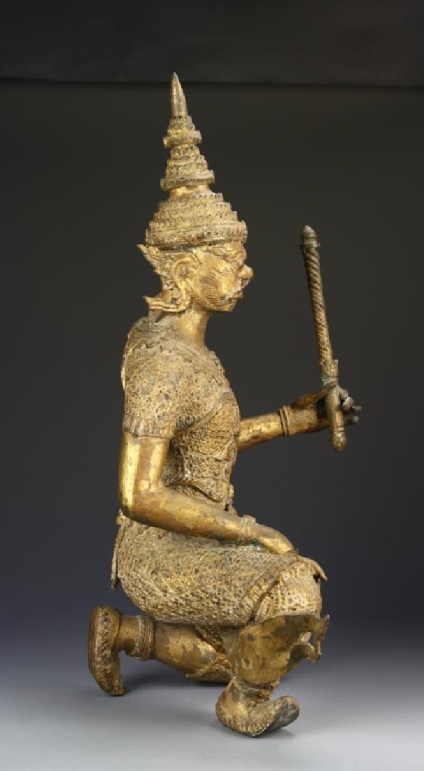 Thailand Gilt Bronze Buddha - 3