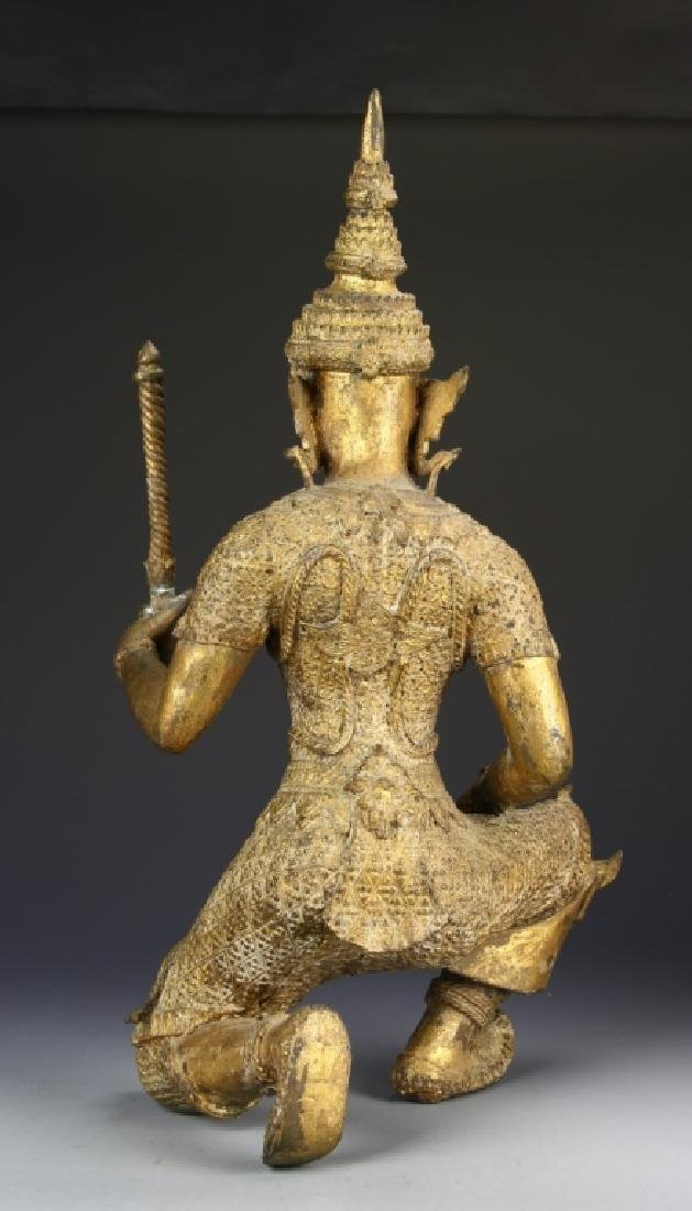 Thailand Gilt Bronze Buddha - 4