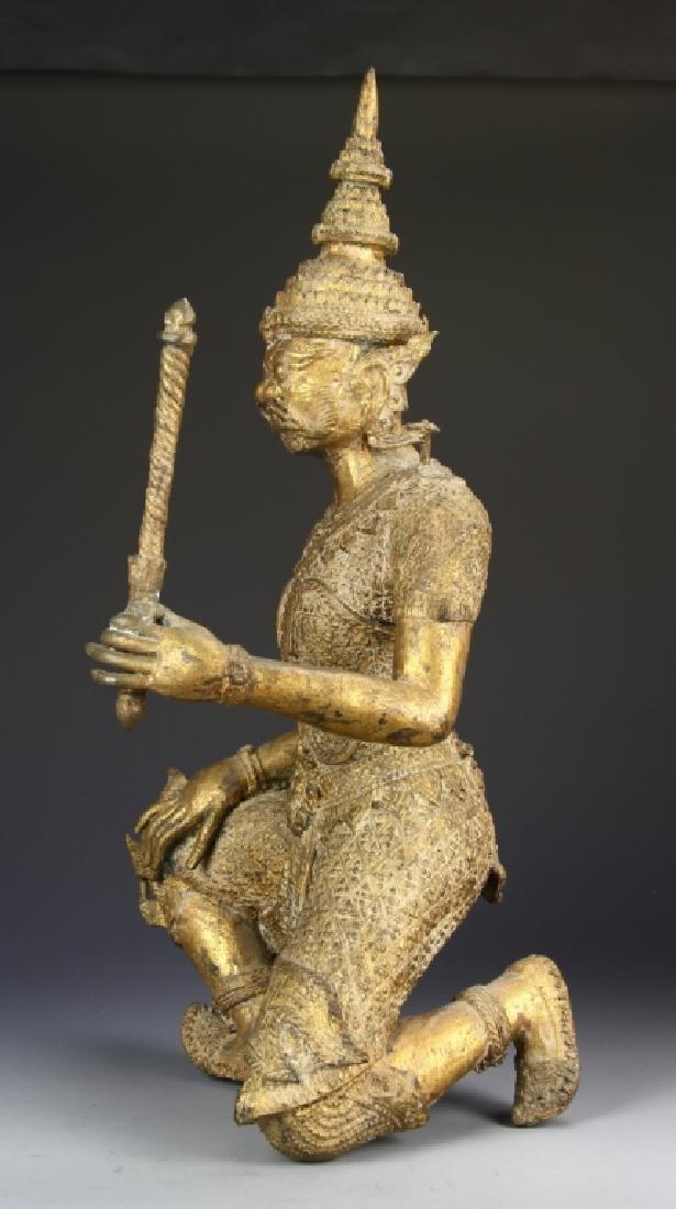 Thailand Gilt Bronze Buddha - 5