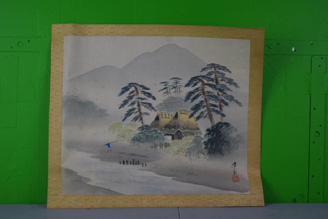 Chinese Watercolor On Paper