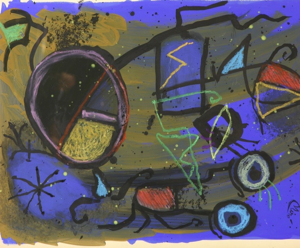 Gouache On Paper Painting