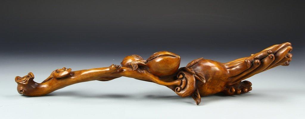 Chinese Wood Ruyi Scepter