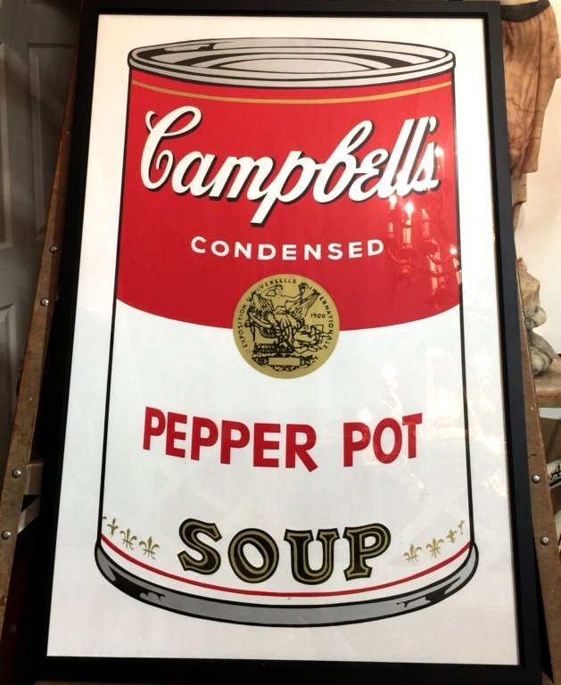 """PRINT OF ANDY WARHOL """"CAMPBELL SOUP"""""""
