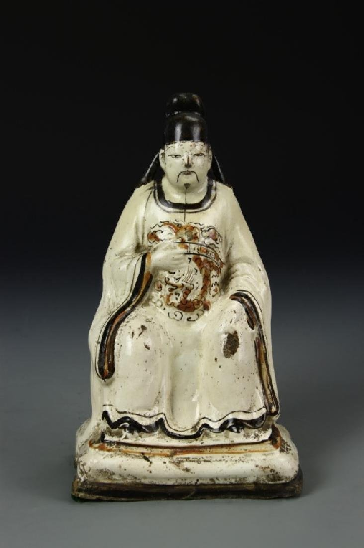 Chinese Cizhou Ware Statue of an Official