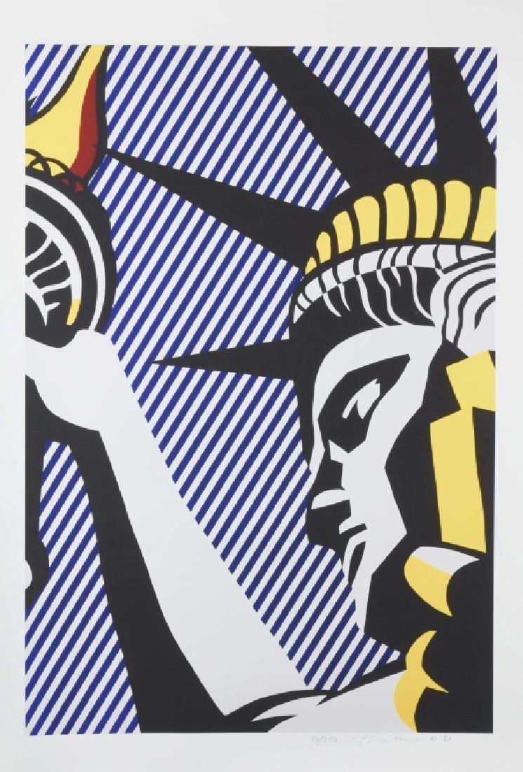 """I Love Liberty"", Roy Lichtenstein Lithograph"