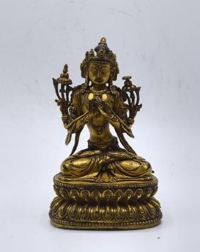 Chinese Gilt Buddha Statue