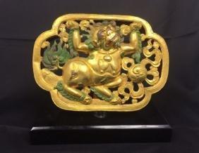 Chinese Gilt Bronze Buddha Sculpture