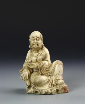 Chinese Carved Stone Dharma Buddha