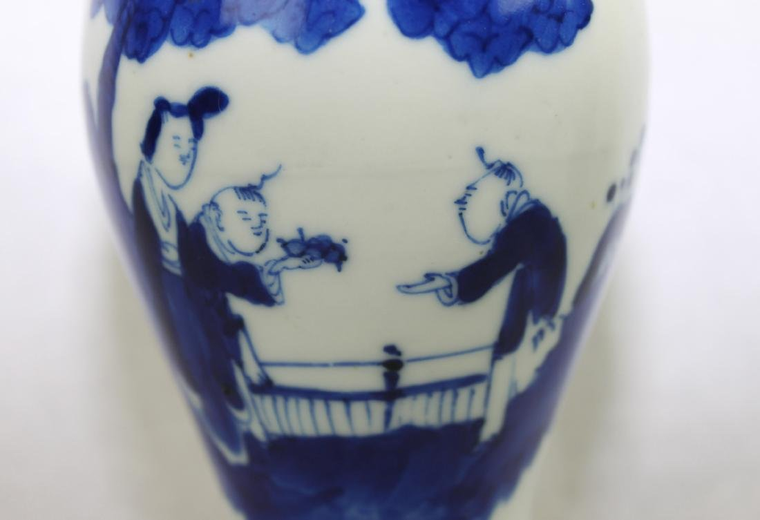 Chinese Blue&White Porcelain Vase - 3