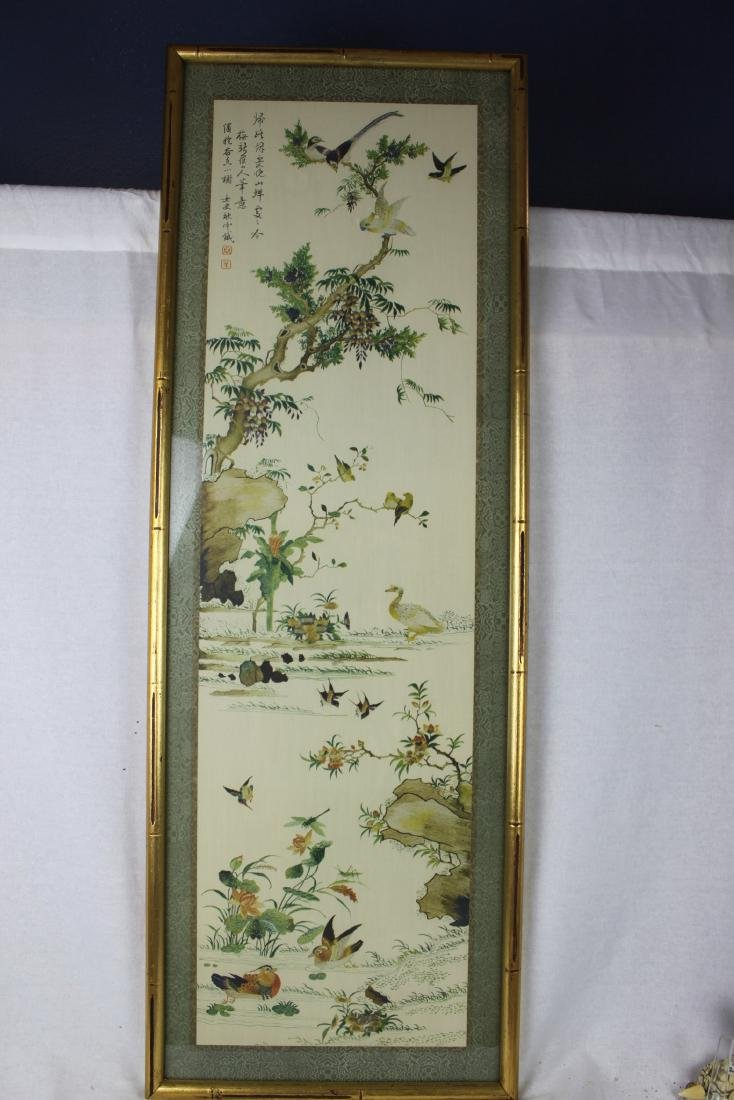 Antique Chinese Painting in Glass Frame