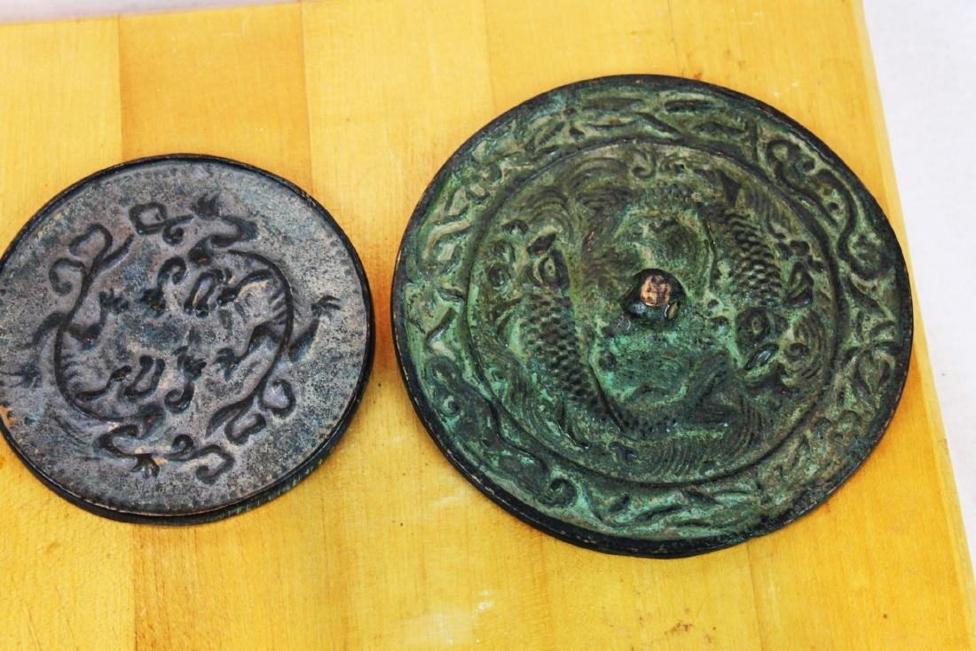 Antique Hand Carved Metal Plates