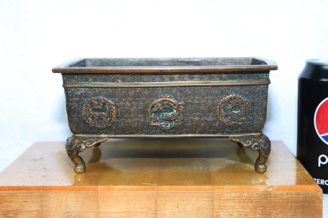 Antique Japanese Hand Made Bronze Incense Burner