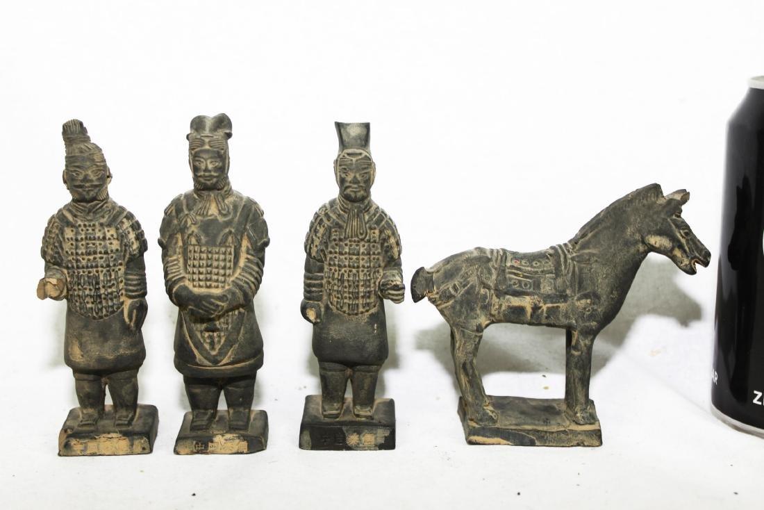 Antique Chinese Worrior Statues
