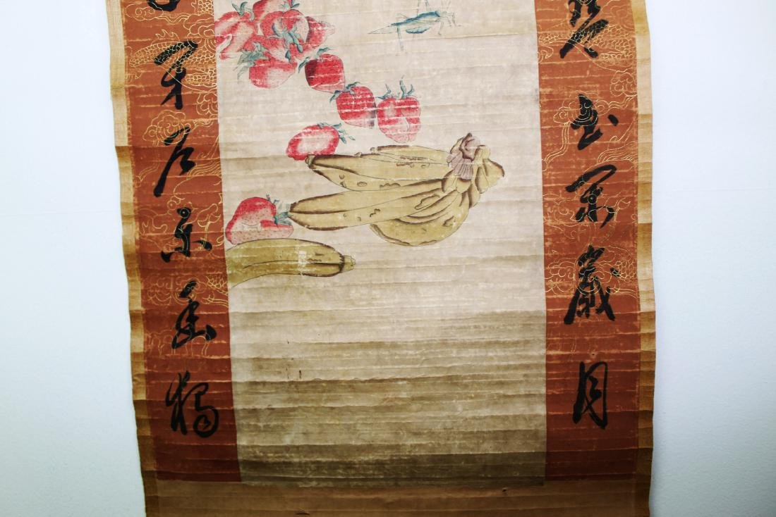 Antique Chinese Scroll Painting and Handwriting - 4
